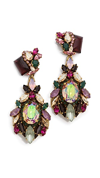 Erickson Beamon Cosmic Code Teardrop Earrings