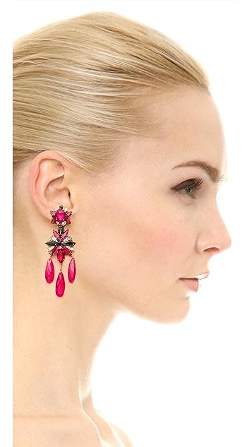 Erickson Beamon Queen Bee Triple Drop Earrings
