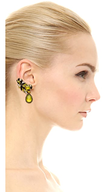Erickson Beamon Queen Bee Earrings