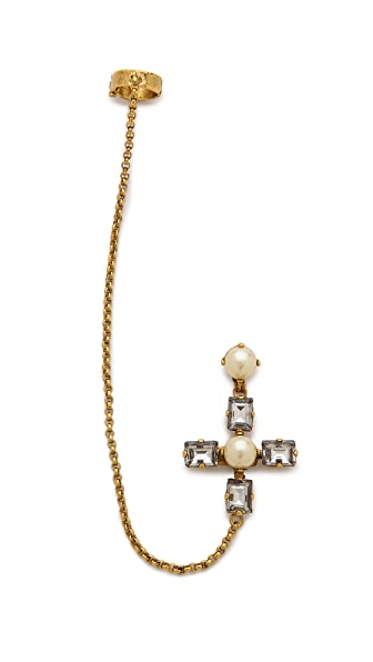 Erickson Beamon Crystal Ear Cuff