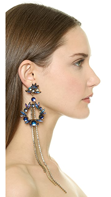 Erickson Beamon Temperal Schism Statement Earrings