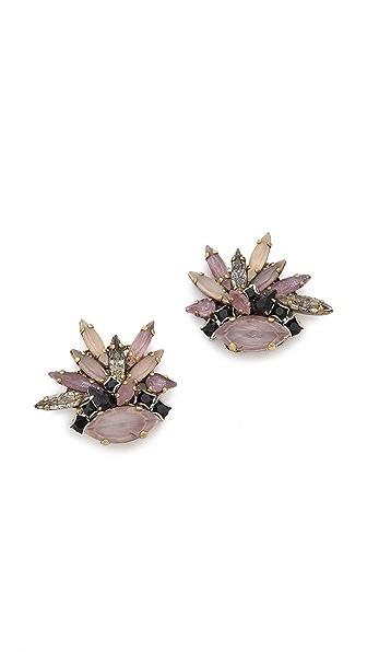 Erickson Beamon Cluster Earrings