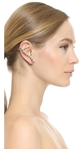 Erickson Beamon Right Glass Pearl Ear Crawler