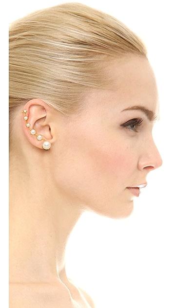 Erickson Beamon Right Graduated Glass Pearl Ear Crawler