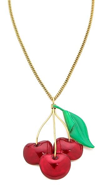 Erickson Beamon Cherry Pie Necklace