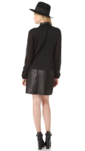 The Eternal Shirtdress with Leather