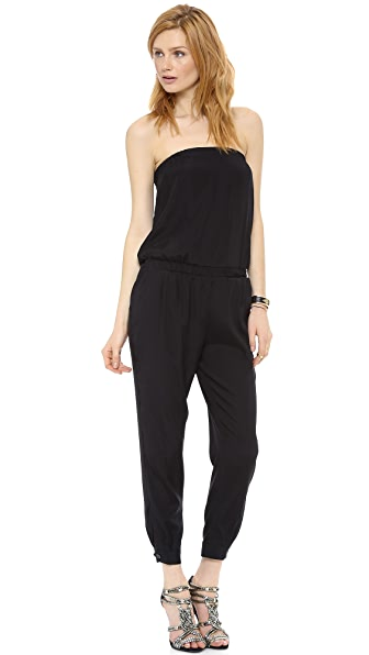 Emerson Thorpe Sienna Strapless Silk Jumpsuit