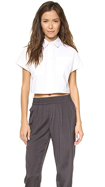Emerson Thorpe Paloma Cropped Button Front Shirt