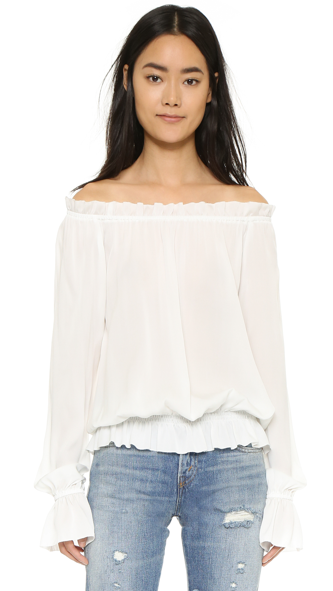 Emerson Thorpe Faye Off Shoulder Blouse - White