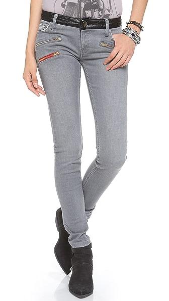 Etienne Marcel Multi Zip Skinny Jeans