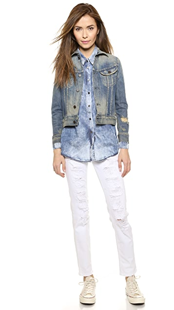 Etienne Marcel Distressed Mid Rise Jeans