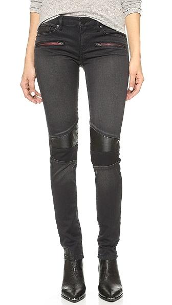 Etienne Marcel Moto Jeans In Black