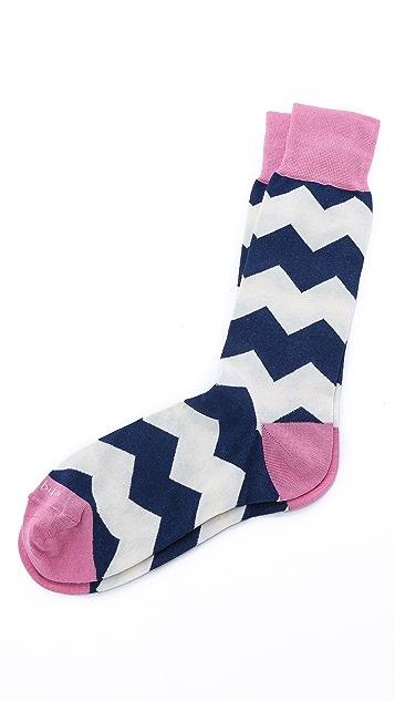 Etiquette Everest Stripes Mid-Calf Socks