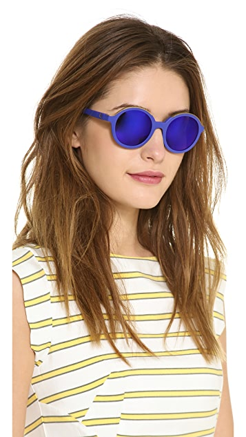 Etnia Barcelona Klein Internation Blue Round Sunglasses