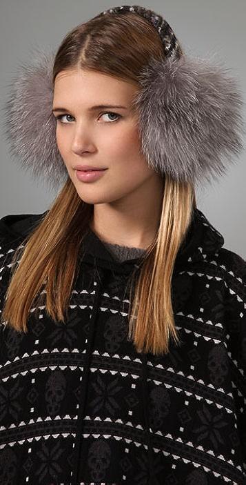 Eugenia Kim Janine Fair Isle & Fur Earmuffs