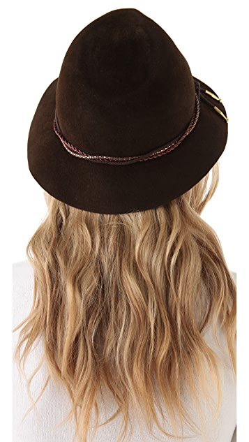 Eugenia Kim Kurt Fedora with Copper Chain Bolo