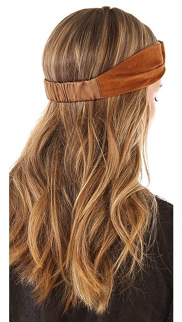 Eugenia Kim Alexis Suede Turban Knot Headband