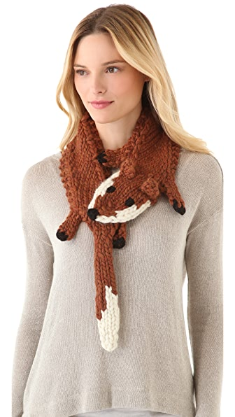 Eugenia Kim Foxy Rust Fox Scarf