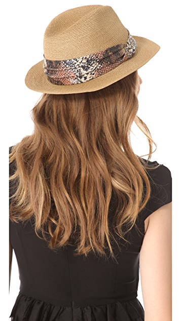 Eugenia Kim Kurt Fedora with Snake Print Band