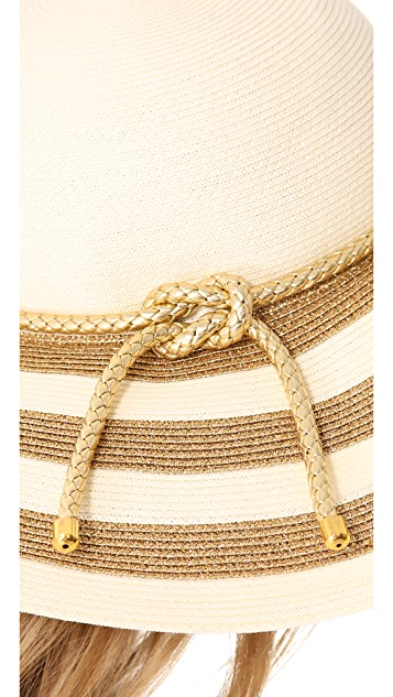 Eugenia Kim Bunny Metallic Striped Sunhat