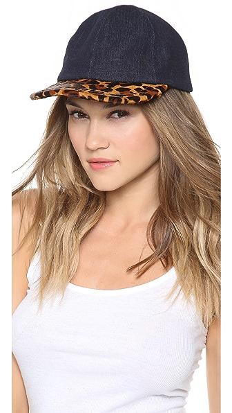 Eugenia Kim Darien Denim & Haircalf Baseball Cap