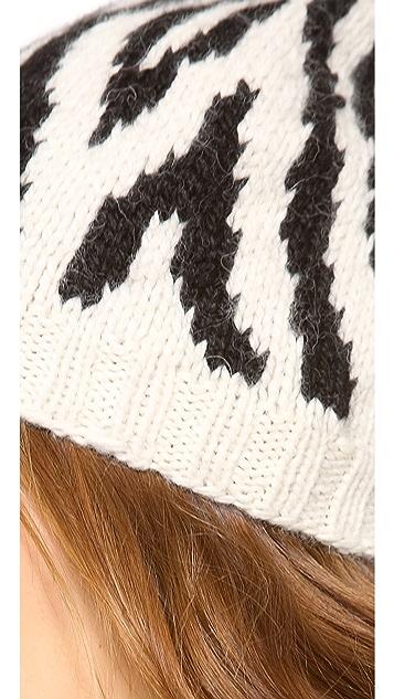 Eugenia Kim Tali Zebra Skull Cap