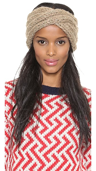 Eugenia Kim Lula Metallic Turban Headband