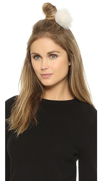 Eugenia Kim Anastasia Fur Hair Clip