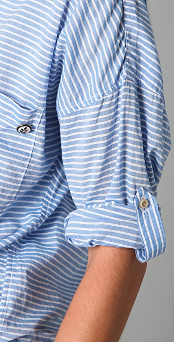 Ever Bowery Striped Blouse