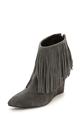 elysewalker los angeles Fringe Wedge Booties