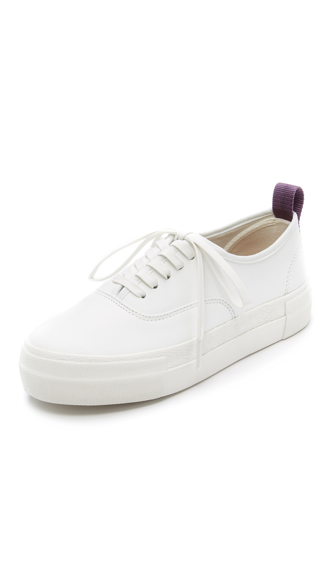 Eytys Mother Leather Sneakers - White