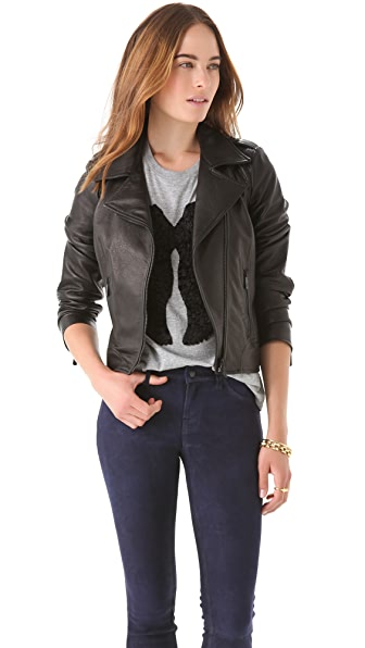 Faith Connexion Leather Jacket with Zip