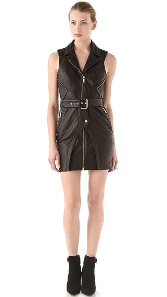 Faith Connexion Leather Dress with Collar