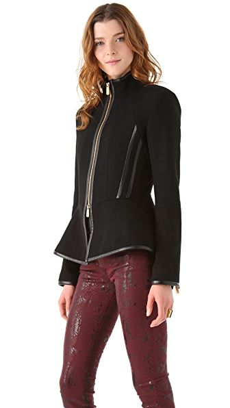 Faith Connexion Peplum Collared Wool Jacket