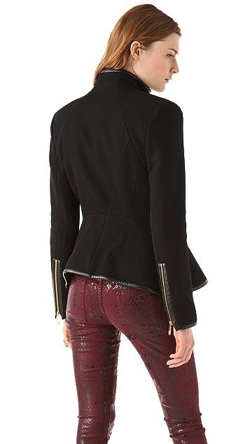 Faith Connexion Peplum Collared Wool Jacket