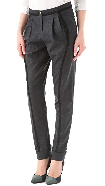Faith Connexion Cuffed Wool Pants