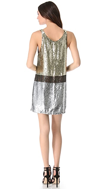 Faith Connexion Mixed Sequin Dress