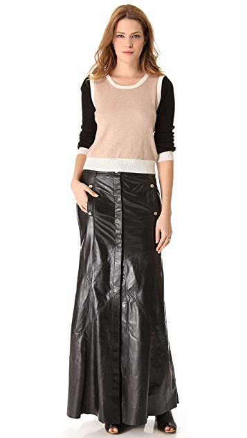 Faith Connexion Leather Maxi Skirt