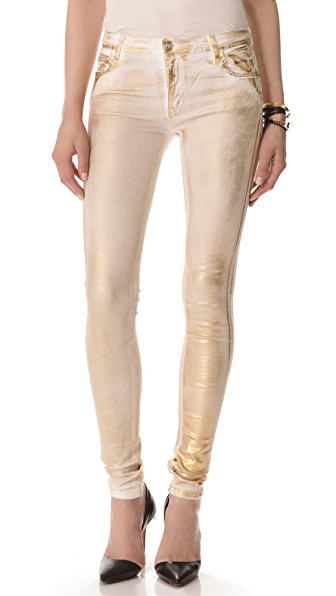Faith Connexion Metallic Legging Jeans