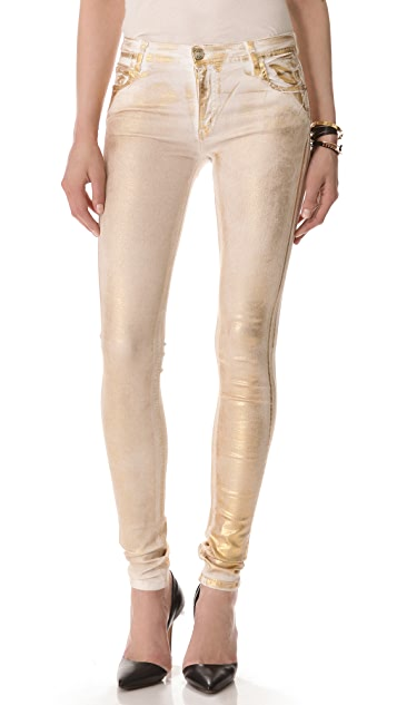 Faith Connexion Metallic Legging Jeans
