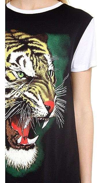 Faith Connexion Tiger Print T Shirt