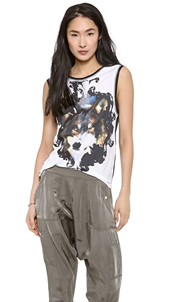 Faith Connexion Wolf Printed Tank Top