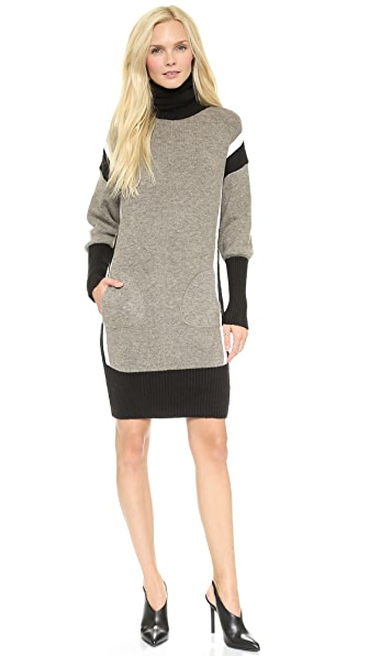 Faith Connexion Mixed Knit Sweater Dress