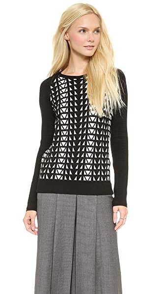 Faith Connexion Geometric Jacquard Sweater