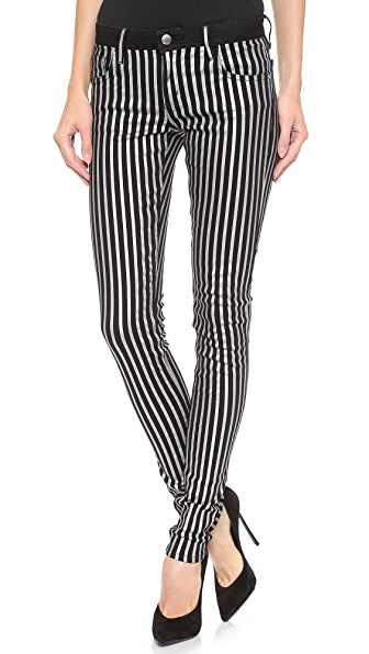 Faith Connexion Flex Striped Coated Jeans