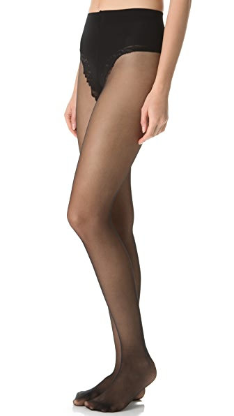 Falke Control Top Silhouette Tights - Black