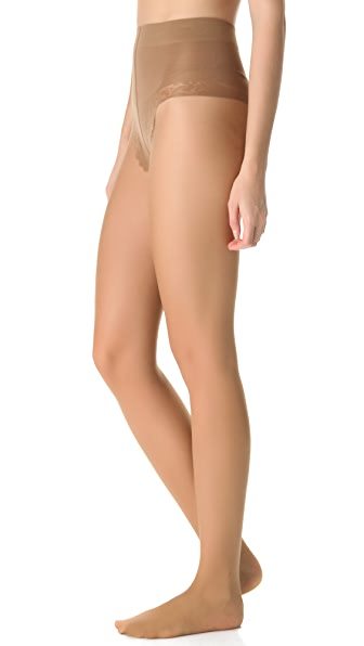 Falke Control Top Silhouette Tights In Powder