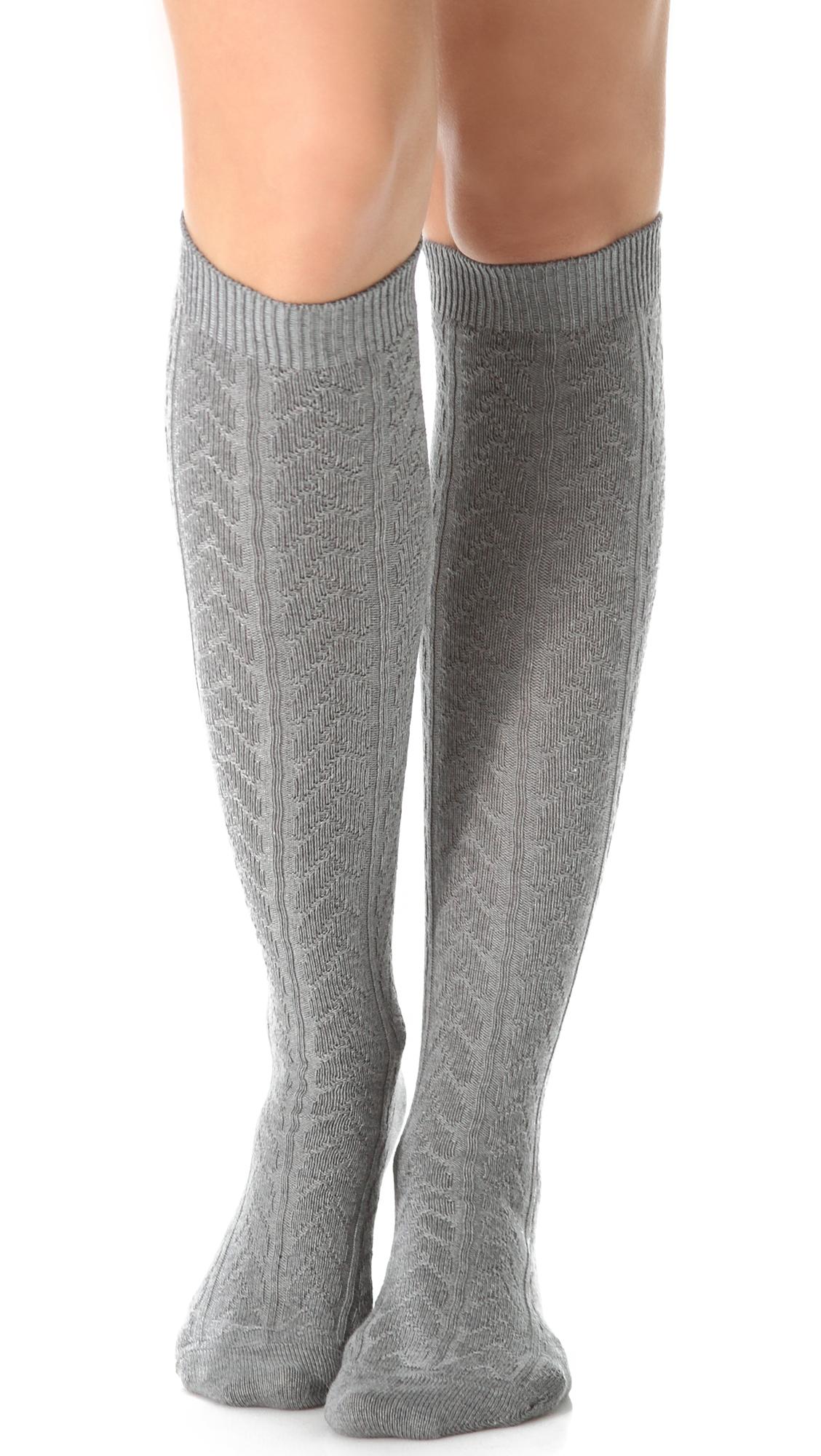 Falke Striggings Cable Knit Knee High Socks | SHOPBOP
