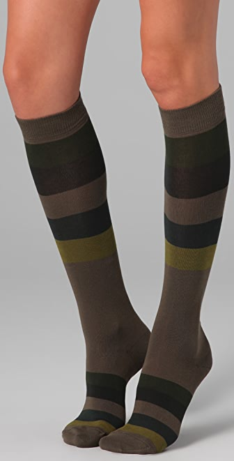 Falke Block Stripes Knee High Socks