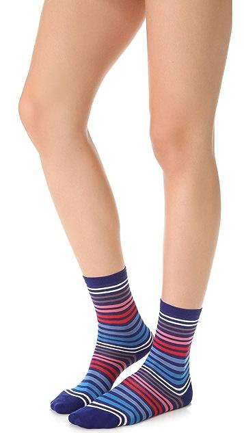 Falke Family Striped Ankle Socks
